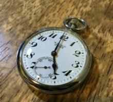 懐中時計修理・オーバーホールの作業事例 SEIKO 19セイコー 懐中時計修理