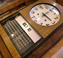 アイチ時計アイチカレンダー30日巻き掛け時計の修理
