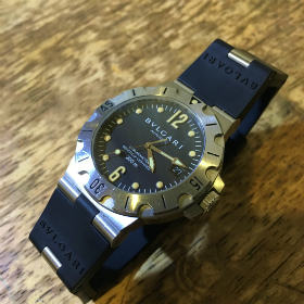 innovative design 0e6d0 4b0d1 BVLGARI DIAGONO ブルガリ ディアゴノ スクーバ 腕時計修理 ...