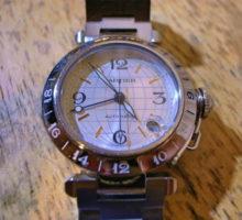 カルティエパシャCメリディアンGMTオートマティック腕時計修理