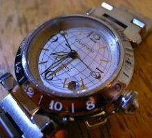 CartierカルティエパシャCメリディアンGMT自動巻腕時計オーバーホール
