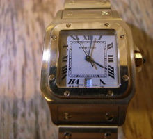 Cartierカルティエサントスクオーツ腕時計オーバーホール