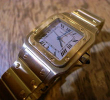 Cartierカルティエサントスガルベクオーツ腕時計オーバーホール