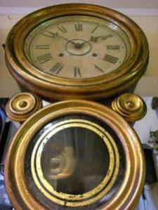 INGRAHAM イングラハム 四つ丸(ダルマ)掛時計修理