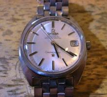 オメガコンステレーション自動巻腕時計修理