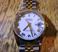 ロレックスデイトジャスト腕時計の分解掃除