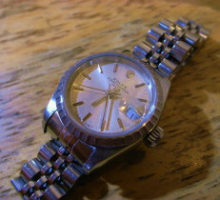 ロレックス ROLEX69240oysterperpetualdateレディース腕時計修理