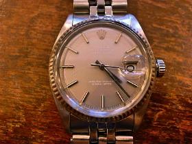 release date: 3da61 528fc ROLEX ロレックス デイトジャスト1601 腕時計修理 - 時計修理は ...
