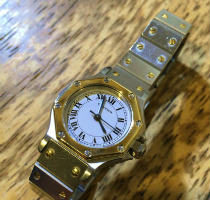 CARTIERカルティエ サントスオクタゴン自動巻腕時計修理