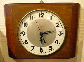 昭和初期 精工舎 電気時計 木製枠掛時計