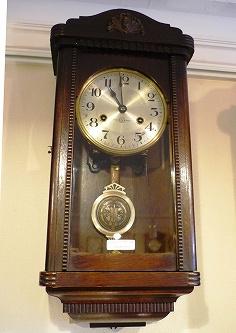 昭和初期 精工舎座敷時計「小角丸」