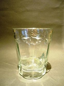 大正 梅型ガラスコップ