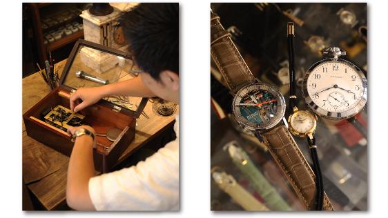 トライフルでの時計修理風景