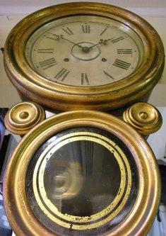 INGRAHAM イングラハム 金四つ丸 掛け時計の修理