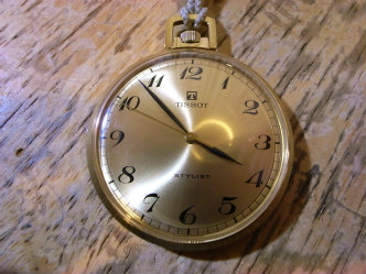 Tissotティソ スタイリスト懐中時計のオーバーホール